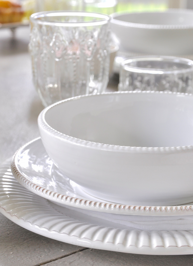 dinnerware and glassware