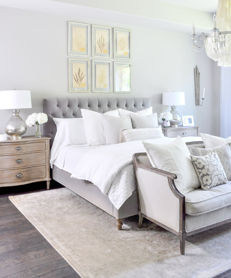 Master bedroom update reveal decor gold designs Beautiful grey bedrooms