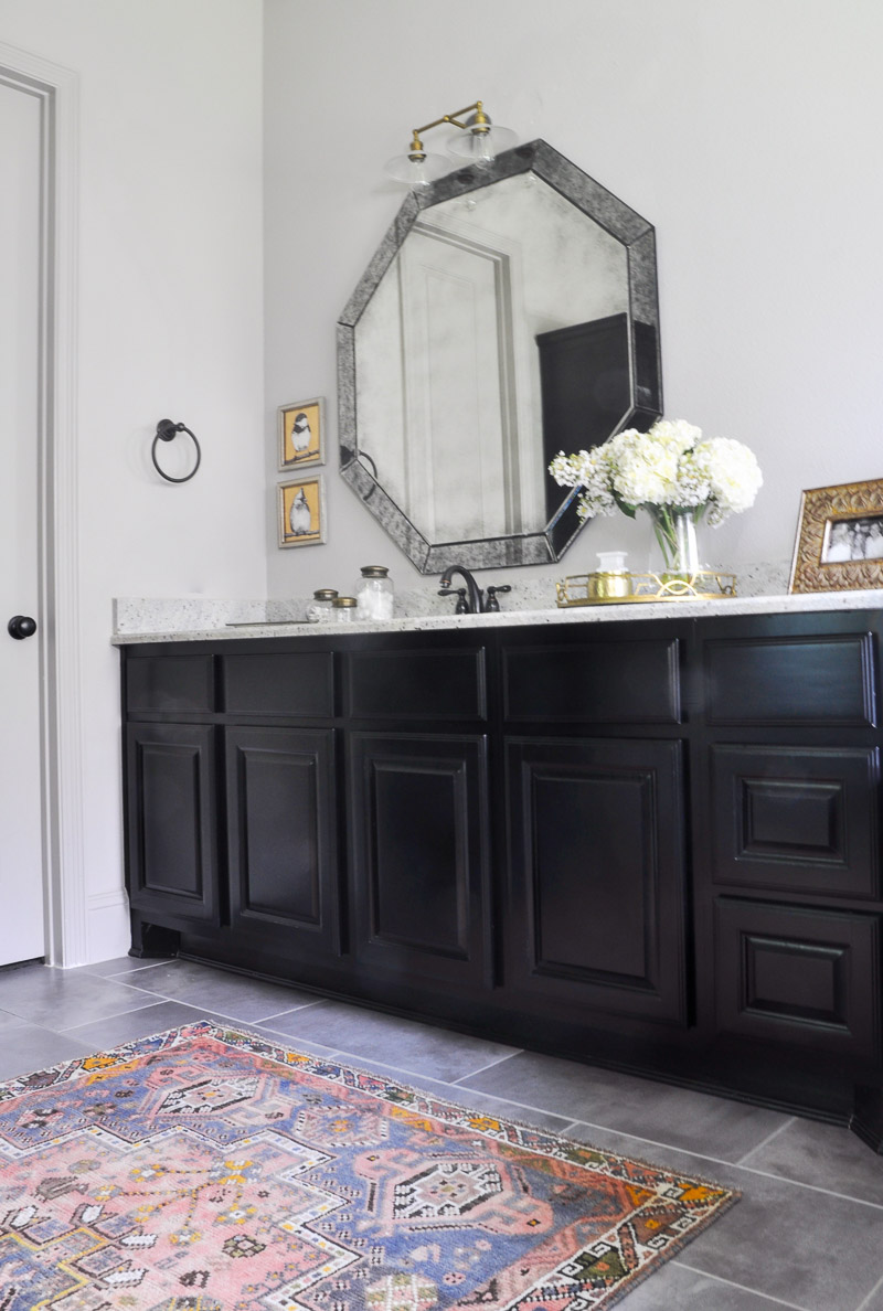 Design tips for adding a pop of color to any room or space for Master bathroom rugs