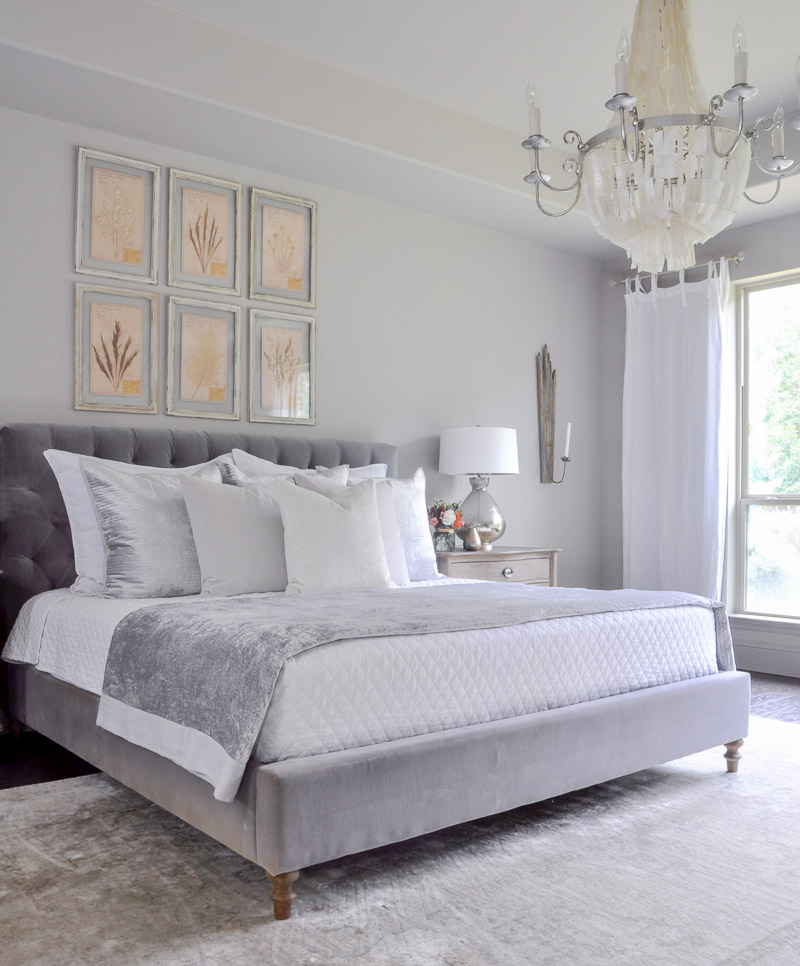The Gorgeous Silver Velvet Bedding Is New. It Is From The White Company And  I Am Thrilled With The Quality.