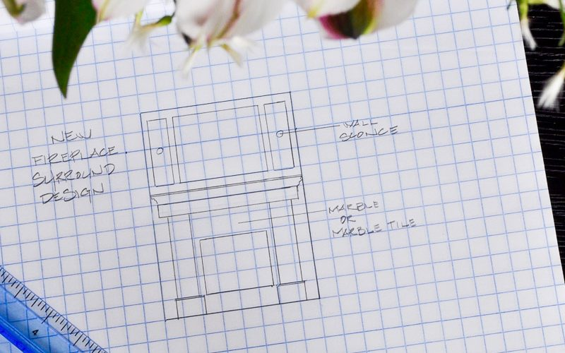 New Fireplace Surround Project – Metrie Option {M} New Traditional