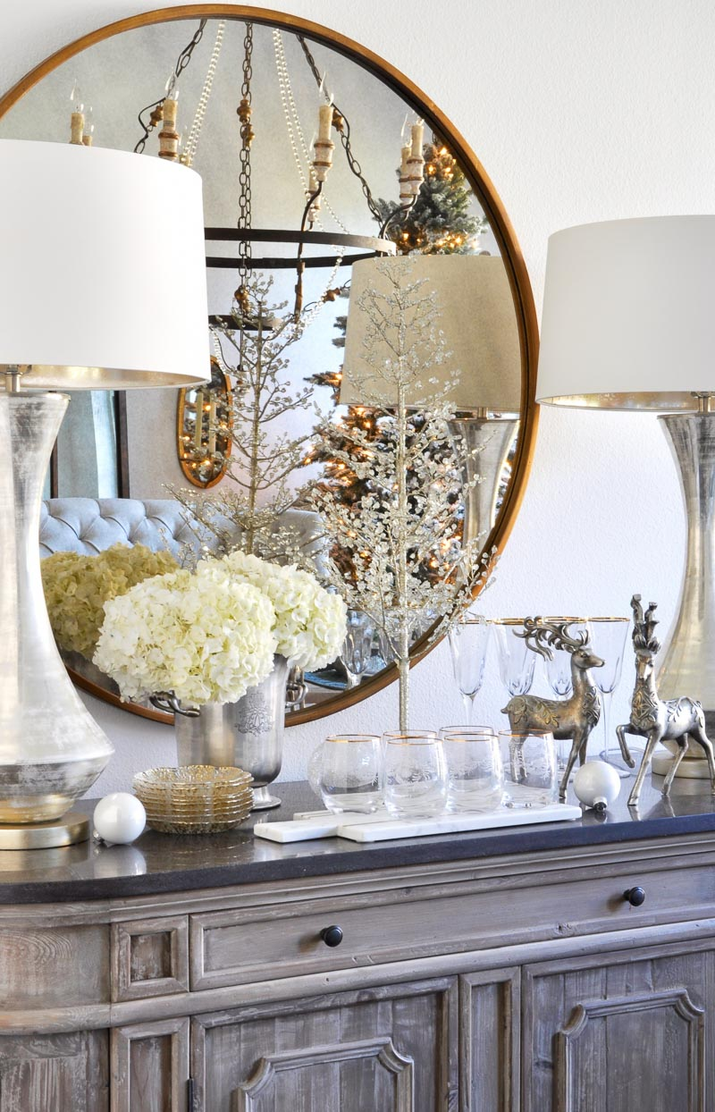 Dining room styling tips holiday entertaining blog tour for Decor gold blog