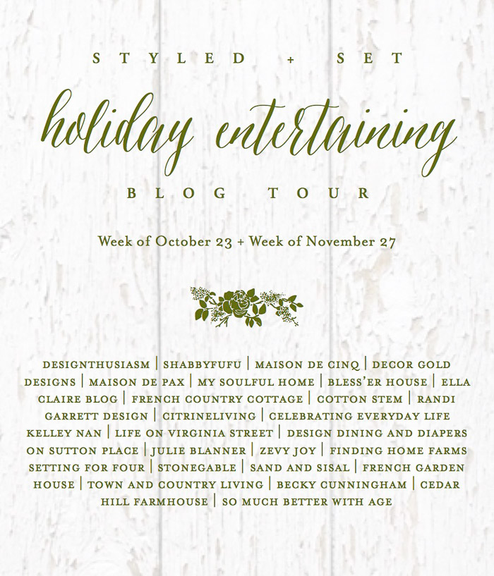 Next Stop Is Designthusiasm Dont Miss Lorys Elegant Holiday Table