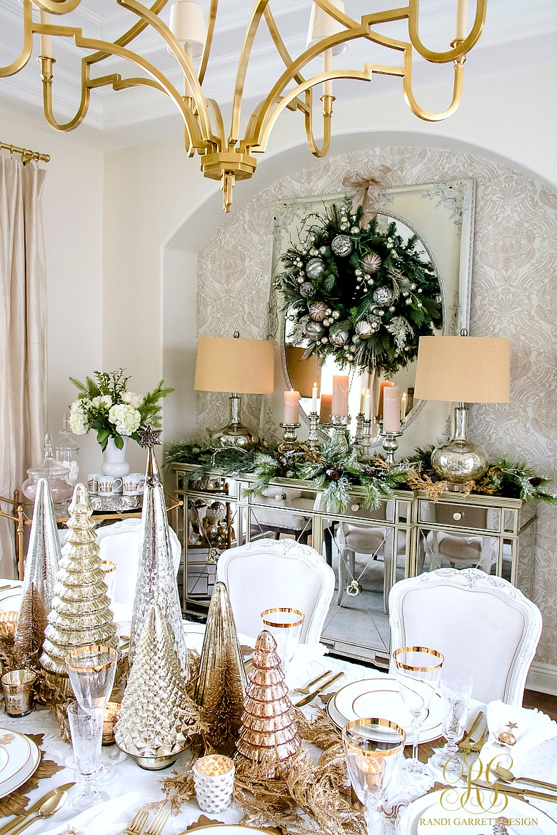 randi garrett design - Elegant Christmas Dining Room Decorations