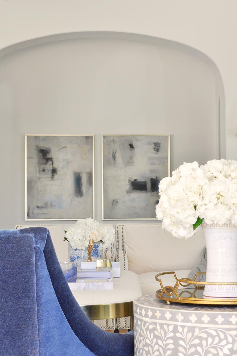 beautiful art pairing in living room update