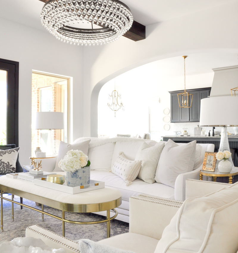 White Living Room Ideas: Living Room Makeover Reveal By Decor Gold Designs