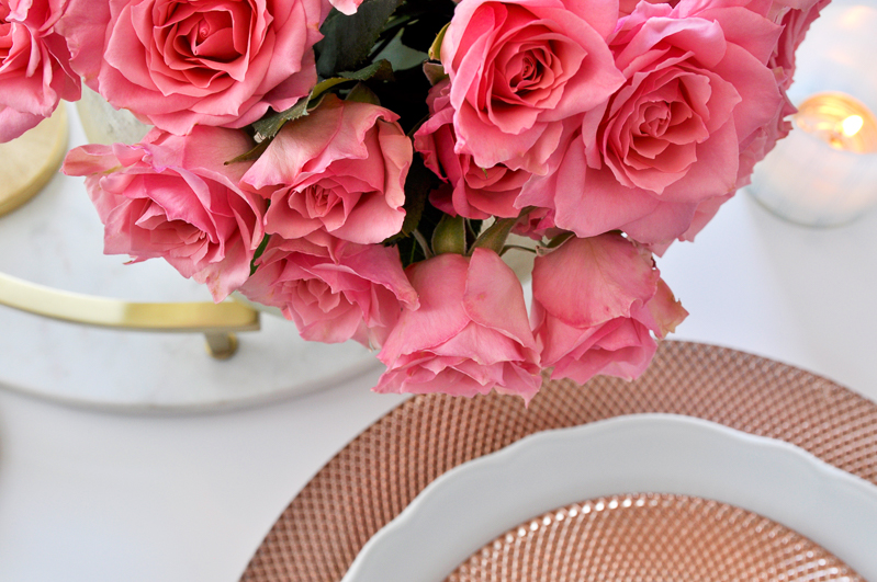 beautiful rose gold dishes