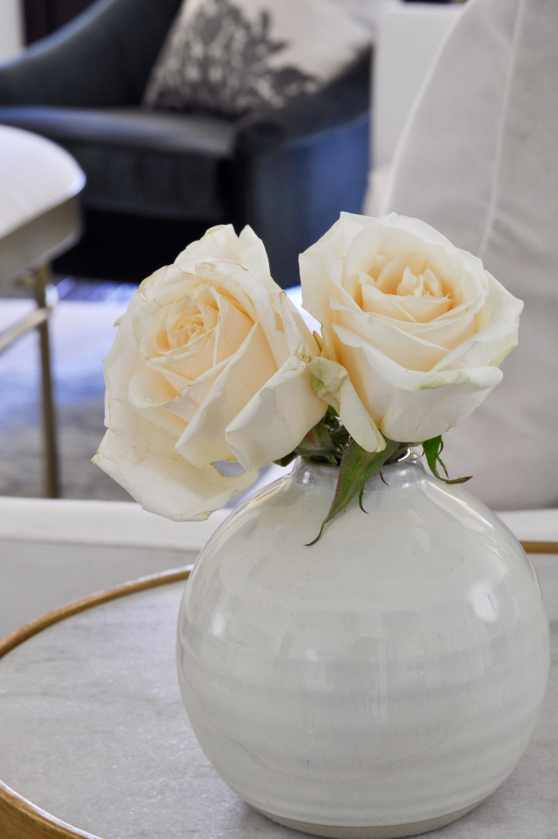 beautiful white round vase