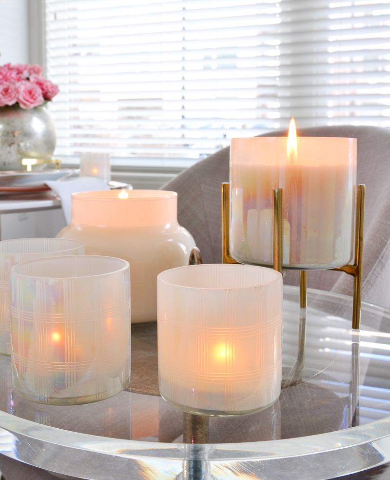 vignette of candles for valentines day