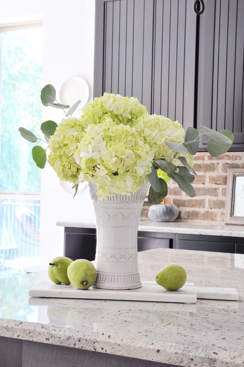 simple flower arrangement in an inviting home