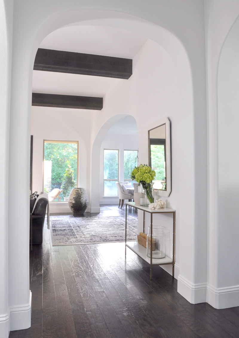 beautiful open entry hall with console table