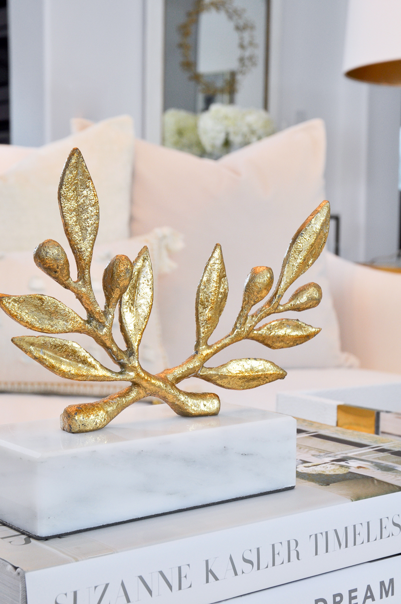 beautiful gold olive branch statue