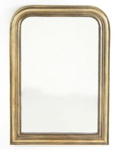 elegant gold arched mirror
