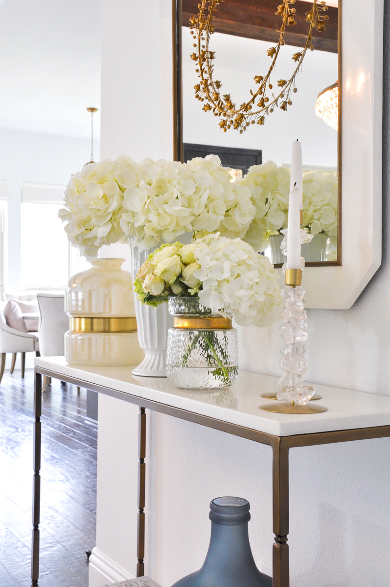 beautiful gold and white home accessories