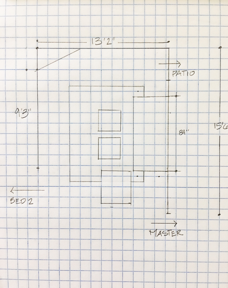 small living room space plan on graph paper