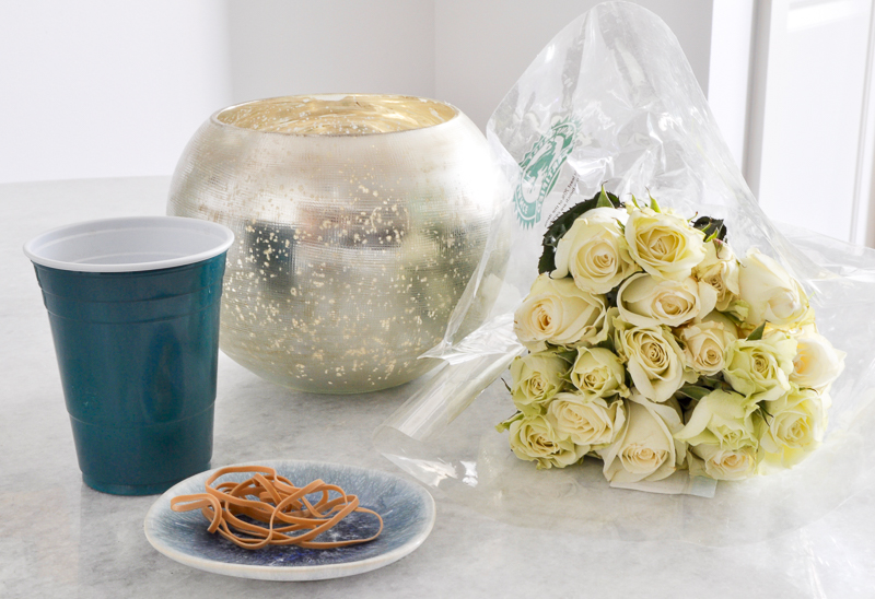 witems you need to arrange roses round vase