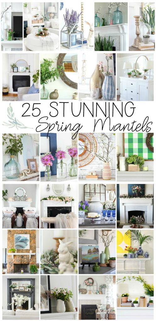 25 stunning spring mantels and spring vignettes
