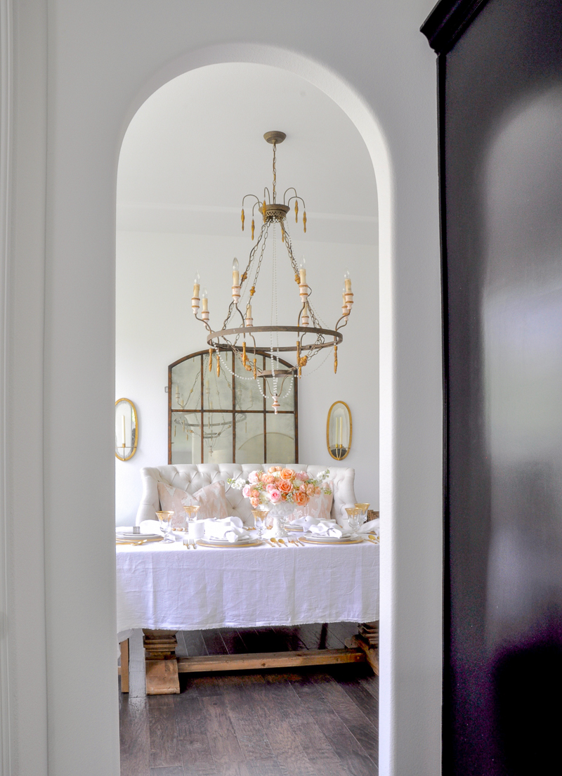 arched entrance to dining room