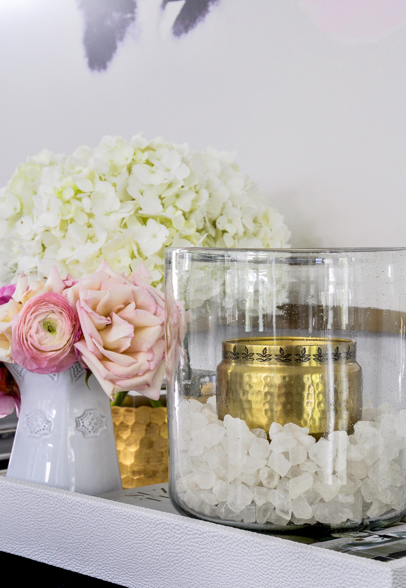 beautiful white and gold home accesories