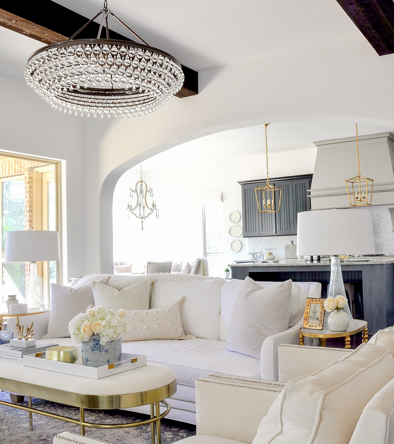 bright white living room