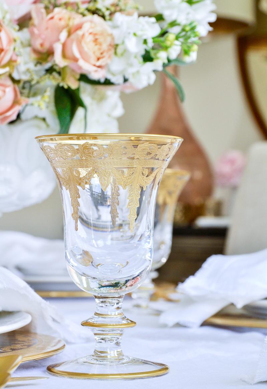 elegant gold glassware