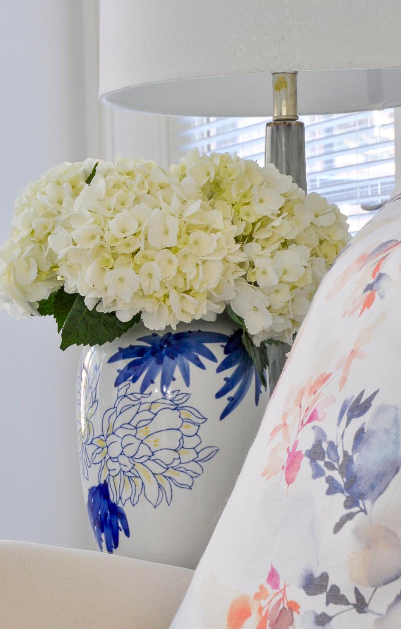 gorgeous white and blue vase
