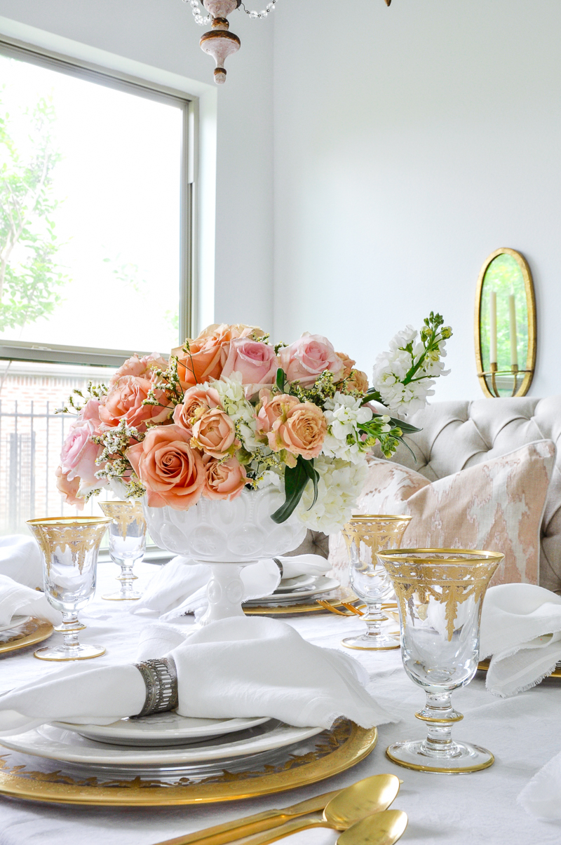 romantic spring dining table