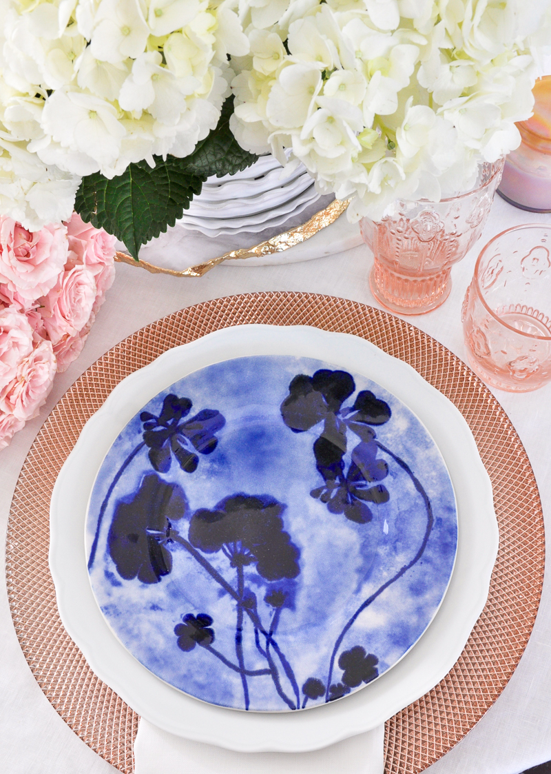 place setting for spring table