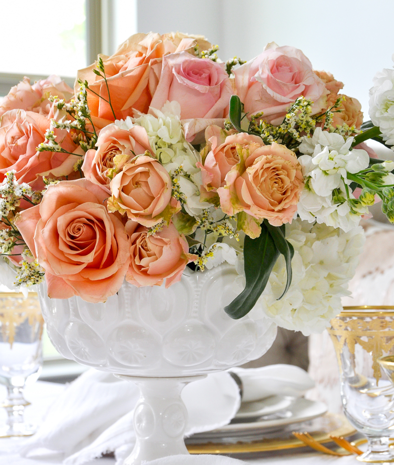 beautiful spring floral arrangement