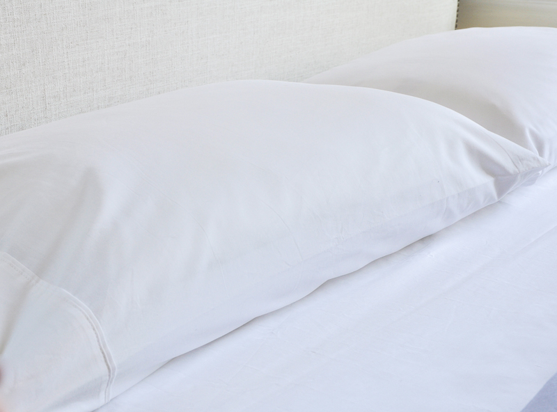 comfortable white pillowcases