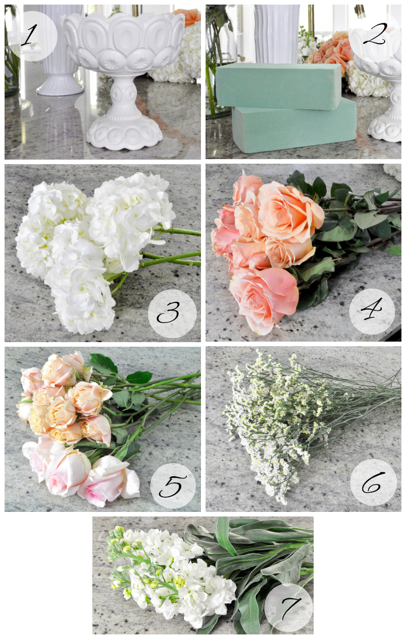 floral arrangement supplies and flowers