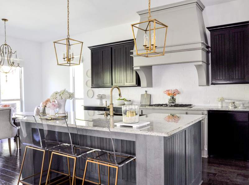 gorgeous kitchen update with gold accents