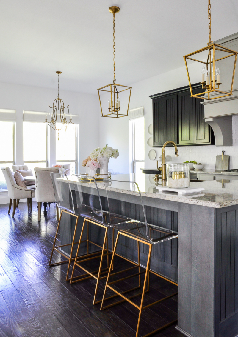 kitchen update with beautiful gold accents