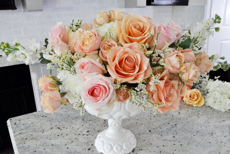 step by step flower arrangement