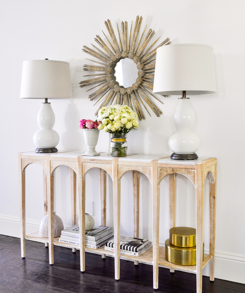 pretty entry hall console table