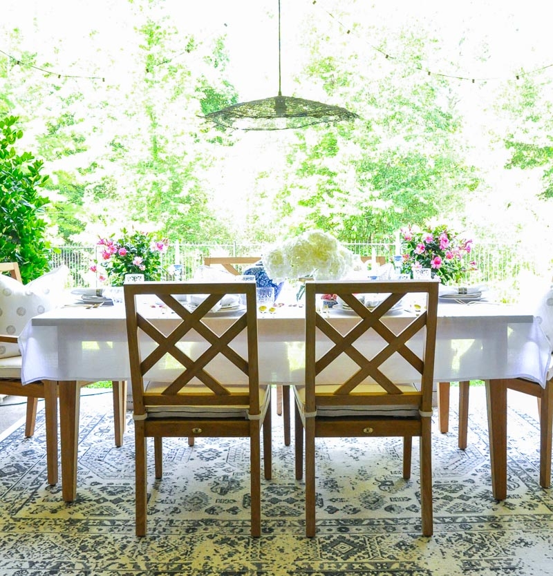 Gorgeous teak dining table chairs beautiful patio