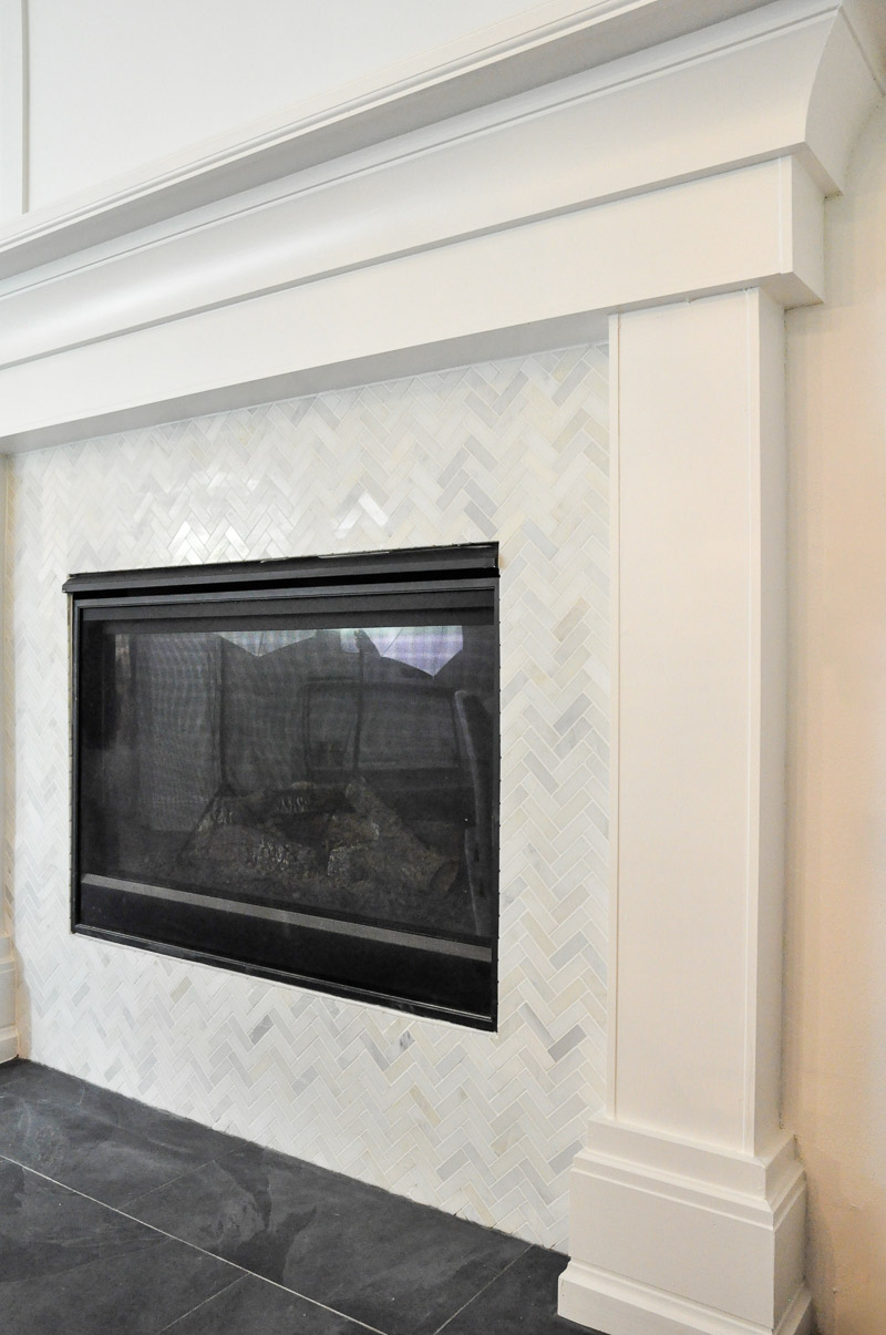 new fireplace surround