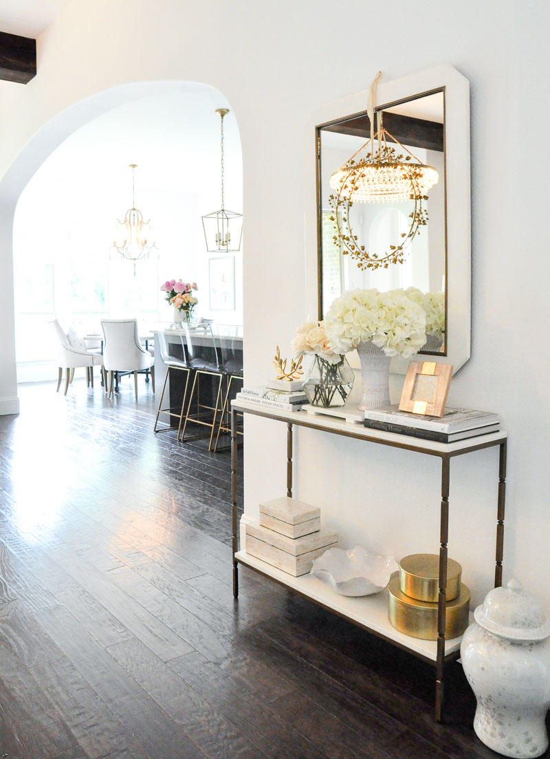 entry hall gorgeous gold white console mirror