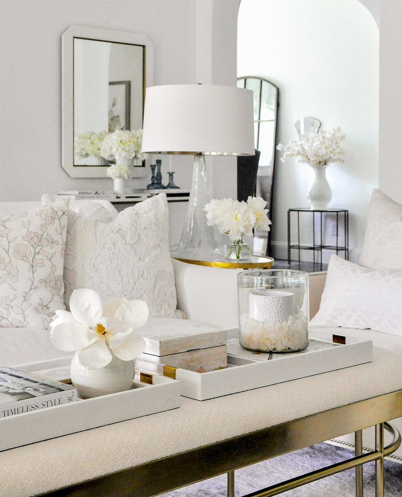 Coffee table white gold home accessories