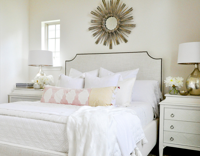 Gorgeous neutral white bedroom
