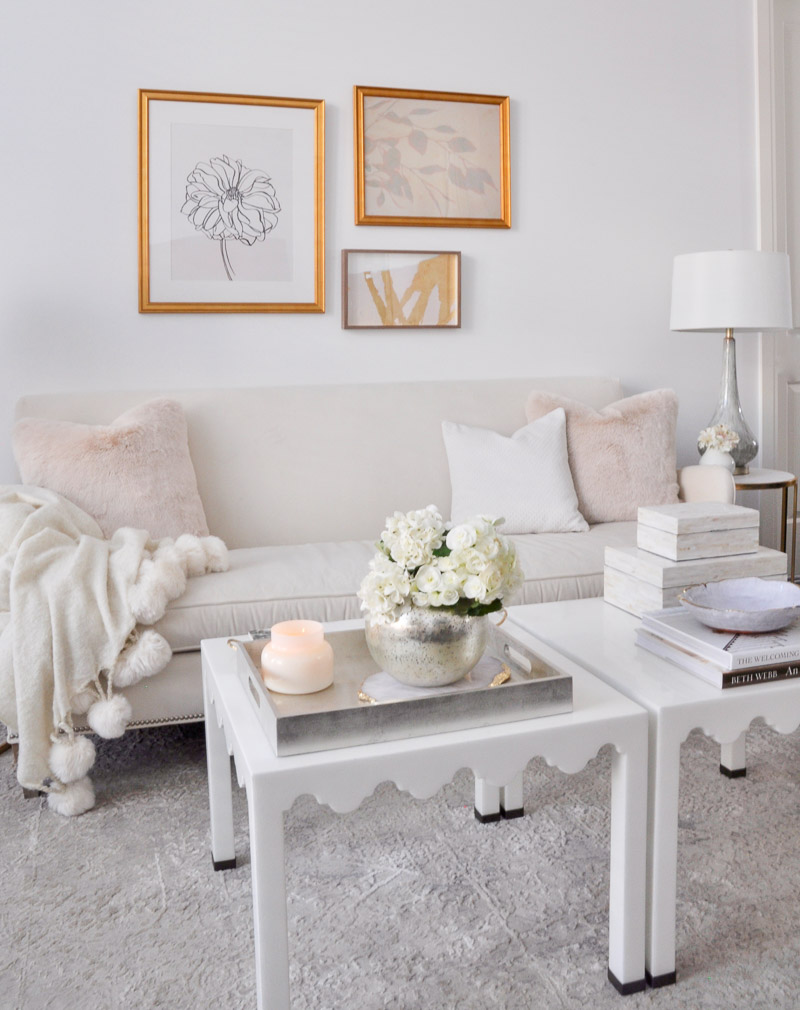 beautiful white living room sofa light blush accents