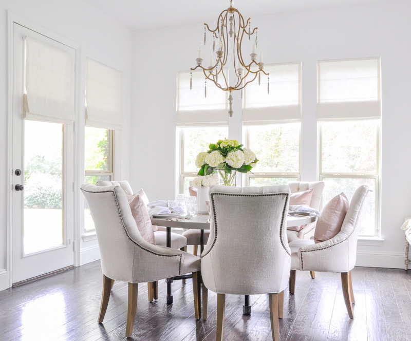 bright white breakfast nook