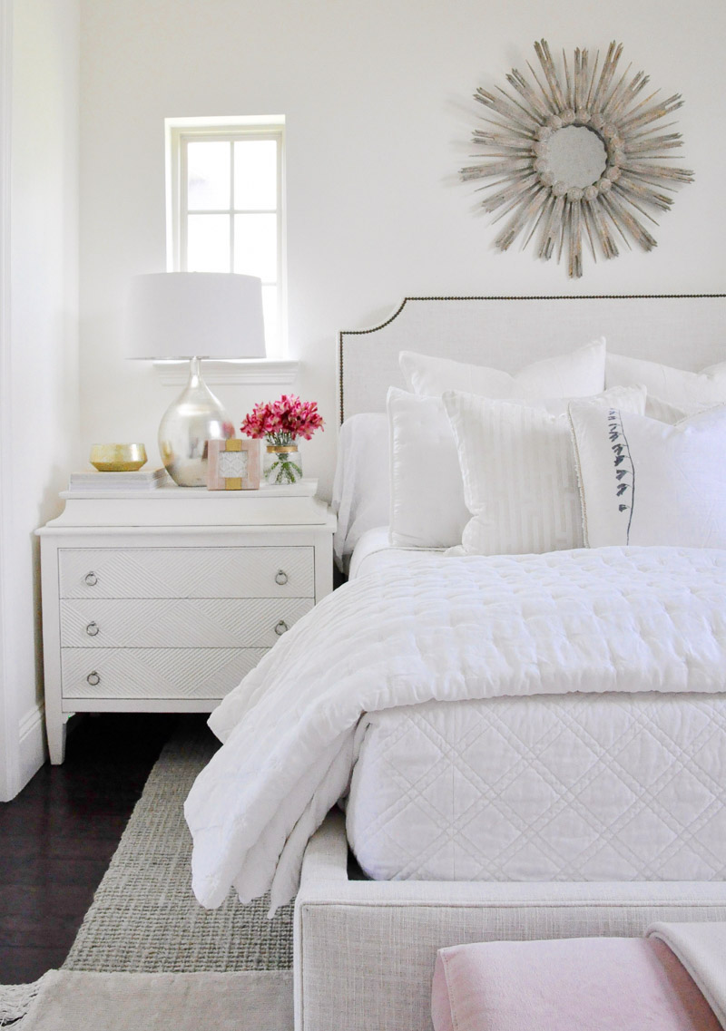 Dreamy white guest bedroom