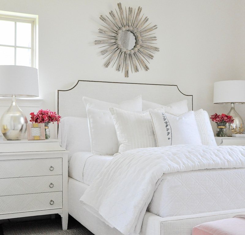 White guest bedroom gorgeous bright look