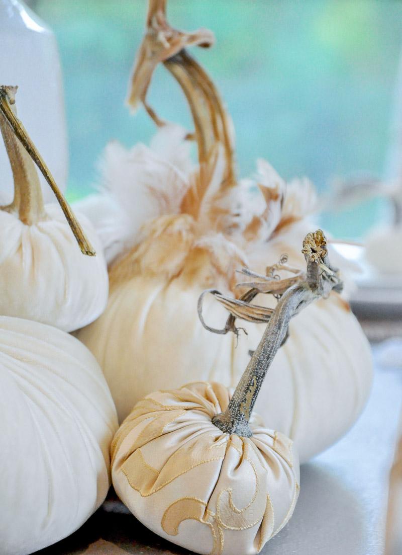 Decorative pumpkins all neutrals
