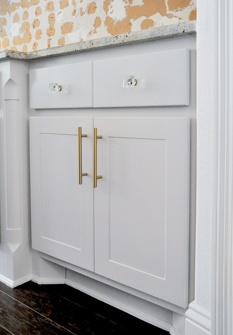 Kitchen cabinet door fronts brass hardware
