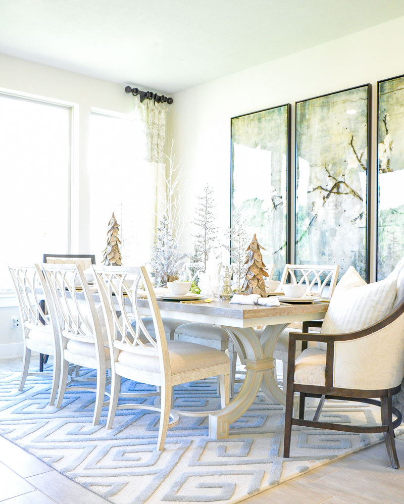 Dining table holiday tree centerpiece