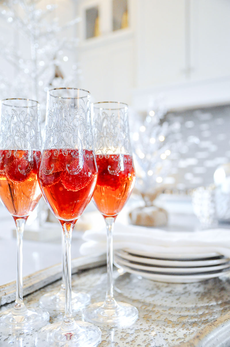 Champagne glasses holiday