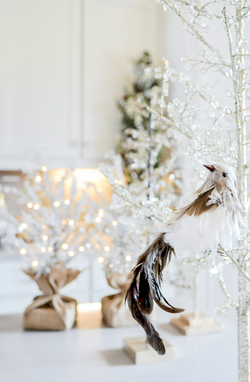 Feather bird ornament