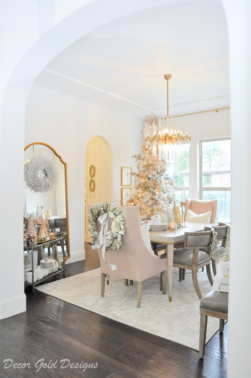 Christmas dining room home tour